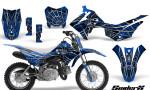 Honda CRF110F CreatorX Graphics Kit SpiderX Blue 150x90 - Honda CRF 110F 2013-2018 Graphics