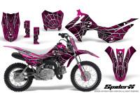 Honda-CRF110F-CreatorX-Graphics-Kit-SpiderX-Pink