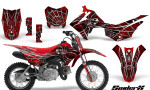 Honda CRF110F CreatorX Graphics Kit SpiderX Red 150x90 - Honda CRF 110F 2013-2018 Graphics