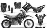 Honda CRF110F CreatorX Graphics Kit SpiderX Silver 150x90 - Honda CRF 110F 2013-2018 Graphics
