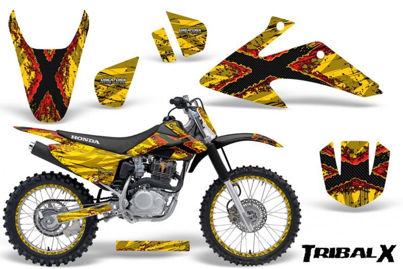 Honda-CRF150-CRF230-08-10-CreatorX-Graphics-Kit-TribalX-Red-Yellow