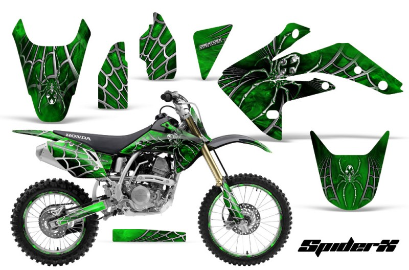 Honda-CRF150R-07-10-CreatorX-Graphics-Kit-SpiderX-Green-BB-NP-Rims