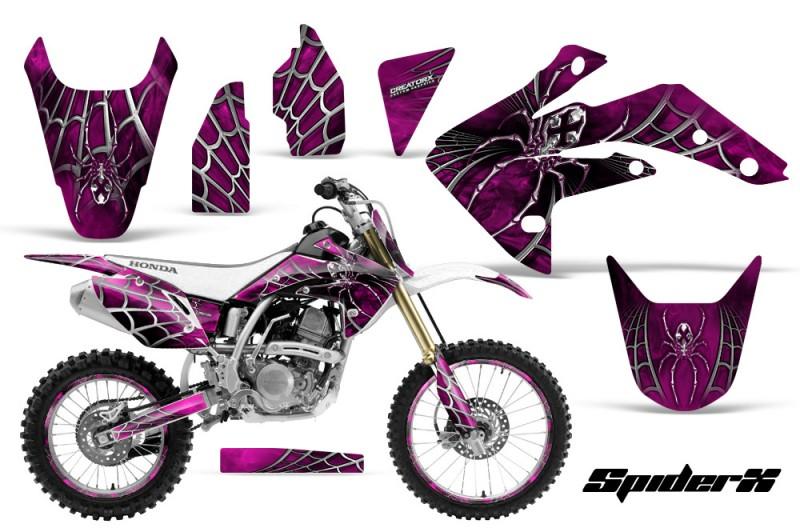 Honda-CRF150R-07-10-CreatorX-Graphics-Kit-SpiderX-Pink-NP-Rims