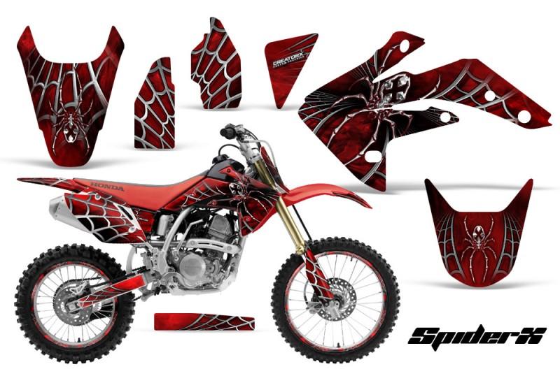 Honda-CRF150R-07-10-CreatorX-Graphics-Kit-SpiderX-Red-NP-Rims