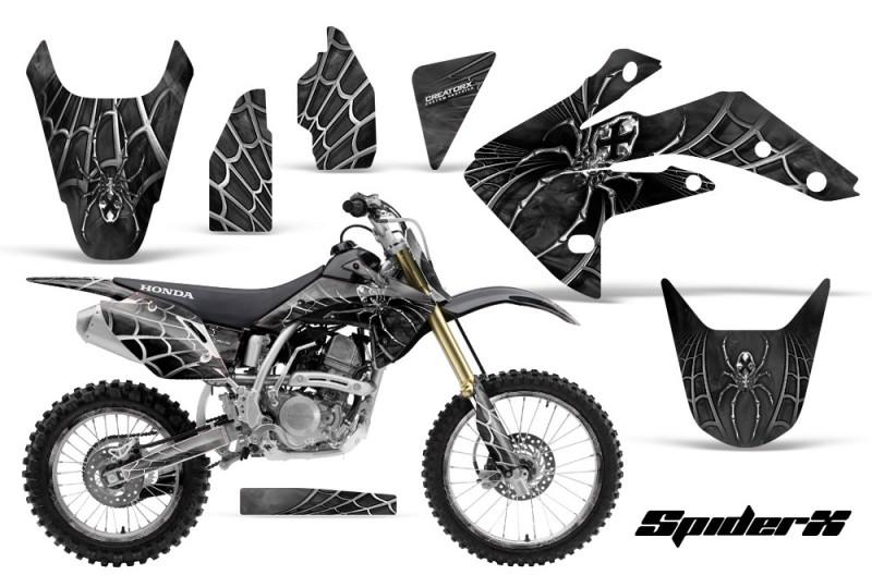 Honda-CRF150R-07-10-CreatorX-Graphics-Kit-SpiderX-Silver-NP-Rims