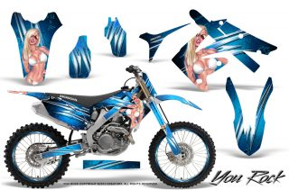 Honda CRF250 10 12 CRF450 09 12 CreatorX Graphics Kit You Rock BlueIce NP Rims 320x211 - Can-Am Maverick X3 TribalX Custom Version Graphics