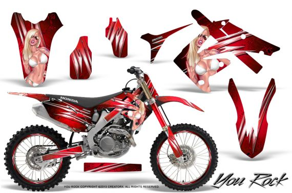 Honda CRF250 10 12 CRF450 09 12 CreatorX Graphics Kit You Rock Red NP Rims 570x376 - Honda CRF250R 2004-2013 Graphics