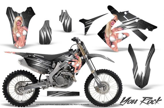 Honda CRF250 10 12 CRF450 09 12 CreatorX Graphics Kit You Rock Silver NP Rims 570x376 - Honda CRF250R 2004-2013 Graphics