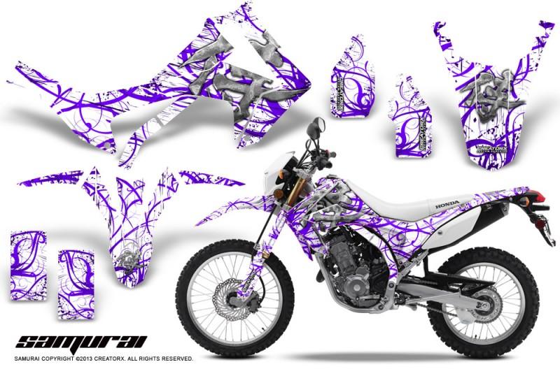 Honda-CRF250L-2013-CreatorX-Graphics-Kit-Samurai-Purple-White-NP-Rims
