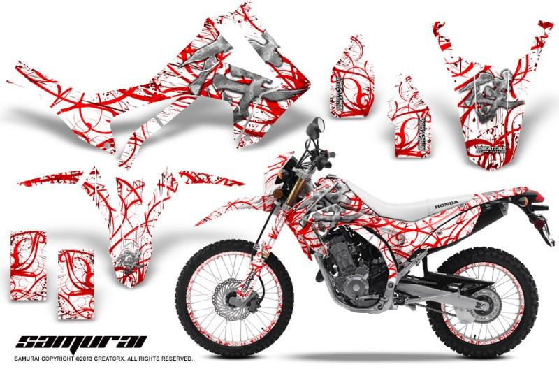 Honda-CRF250L-2013-CreatorX-Graphics-Kit-Samurai-Red-White-NP-Rims