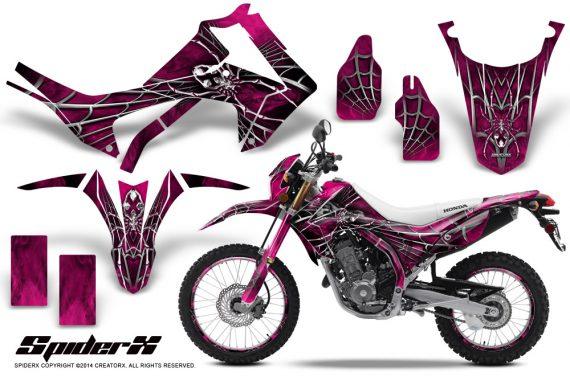 Honda-CRF250L-2013-CreatorX-Graphics-Kit-SpiderX-Pink-NP-Rims