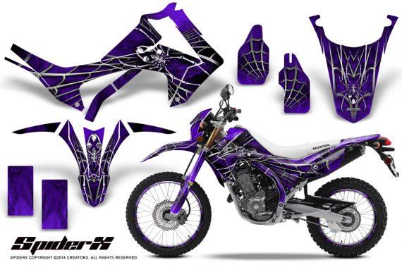Honda-CRF250L-2013-CreatorX-Graphics-Kit-SpiderX-Purple-NP-Rims