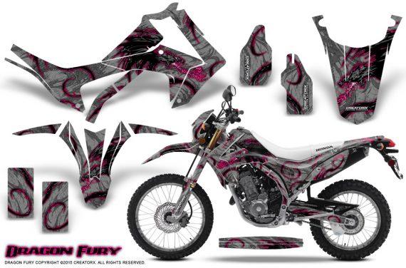 Honda-CRF250L-2013-Graphics-Kit-Dragon-Fury-Pink-Silver-NP-Rims