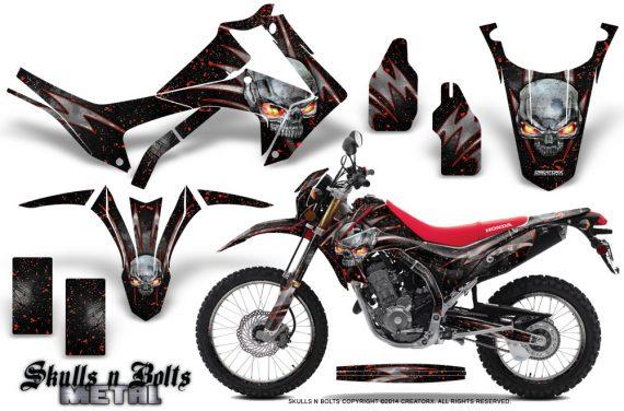 Honda-CRF250L-2013-Graphics-Kit-Skulls-n-Bolts-Metal-Red-Black-NP-Rims