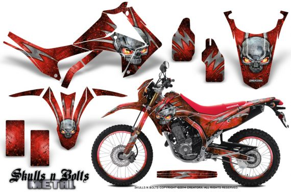 Honda-CRF250L-2013-Graphics-Kit-Skulls-n-Bolts-Metal-Red-Red-NP-Rims