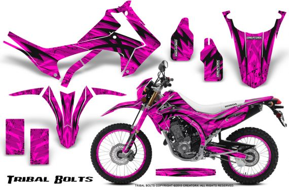 Honda-CRF250L-2013-Graphics-Kit-Tribal-Bolts-Pink-NP-Rims