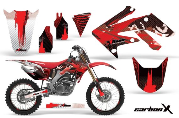 Honda CRF250R 04 09 AMR Graphics Kit CarbonXRed NPs 570x376 - Honda CRF250R 2004-2013 Graphics