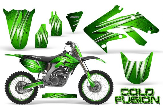Honda CRF250R 04 09 CreatorX Graphics Kit Cold Fusion Green NP Rims 570x376 - Honda CRF250R 2004-2013 Graphics
