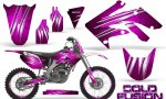 Honda CRF250R 04 09 CreatorX Graphics Kit Cold Fusion Pink NP Rims 150x90 - Honda CRF250R 2004-2013 Graphics