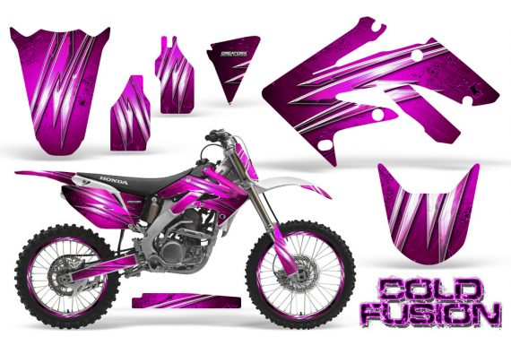 Honda CRF250R 04 09 CreatorX Graphics Kit Cold Fusion Pink NP Rims 570x376 - Honda CRF250R 2004-2013 Graphics