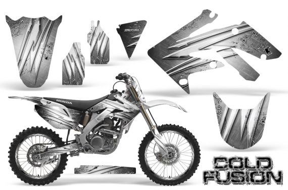 Honda CRF250R 04 09 CreatorX Graphics Kit Cold Fusion White NP Rims 570x376 - Honda CRF250R 2004-2013 Graphics