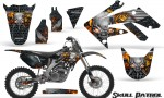 Honda CRF250R 04 09 CreatorX Graphics Kit Skull Patrol Silver Black NP Rims 150x90 - Honda CRF250R 2004-2013 Graphics