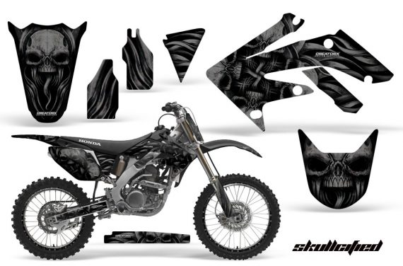 Honda CRF250R 04 09 CreatorX Graphics Kit Skullcified Black NPs Rims 570x376 - Honda CRF250R 2004-2013 Graphics
