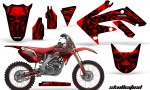 Honda CRF250R 04 09 CreatorX Graphics Kit Skullcified Red NPs Rims RB 150x90 - Honda CRF250R 2004-2013 Graphics