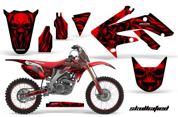 Honda CRF250R 04 09 CreatorX Graphics Kit Skullcified Red NPs Rims RB 570x376 - Honda CRF250R 2004-2013 Graphics