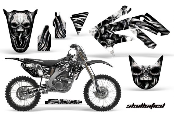 Honda CRF250R 04 09 CreatorX Graphics Kit Skullcified Silver NPs Rims 570x376 - Honda CRF250R 2004-2013 Graphics