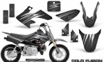 Honda CRF50 CreatorX Graphics Kit Cold Fusion Black 150x90 - Honda CRF50 2004-2015 Graphics