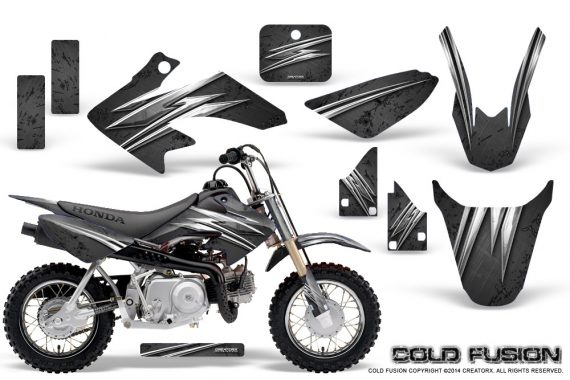 Honda CRF50 CreatorX Graphics Kit Cold Fusion Black 570x380 - Honda CRF50 2004-2015 Graphics