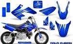 Honda CRF50 CreatorX Graphics Kit Cold Fusion Blue 150x90 - Honda CRF50 2004-2015 Graphics
