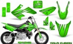 Honda CRF50 CreatorX Graphics Kit Cold Fusion Green 150x90 - Honda CRF50 2004-2015 Graphics