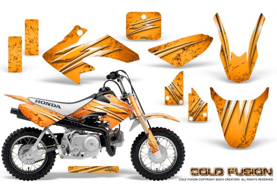 Honda CRF50 CreatorX Graphics Kit Cold Fusion Orange 570x380 - Honda CRF50 2004-2015 Graphics