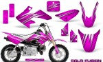 Honda CRF50 CreatorX Graphics Kit Cold Fusion Pink 150x90 - Honda CRF50 2004-2015 Graphics