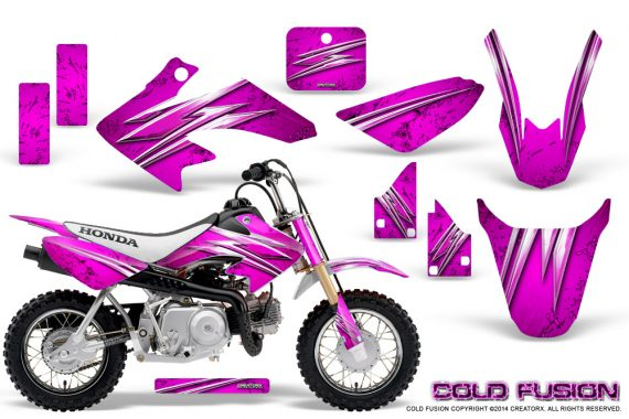 Honda CRF50 CreatorX Graphics Kit Cold Fusion Pink 570x380 - Honda CRF50 2004-2015 Graphics