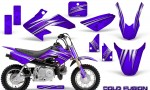 Honda CRF50 CreatorX Graphics Kit Cold Fusion Purple 150x90 - Honda CRF50 2004-2015 Graphics