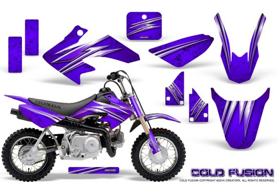 Honda CRF50 CreatorX Graphics Kit Cold Fusion Purple 570x380 - Honda CRF50 2004-2015 Graphics