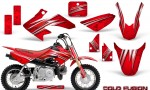 Honda CRF50 CreatorX Graphics Kit Cold Fusion Red 150x90 - Honda CRF50 2004-2015 Graphics