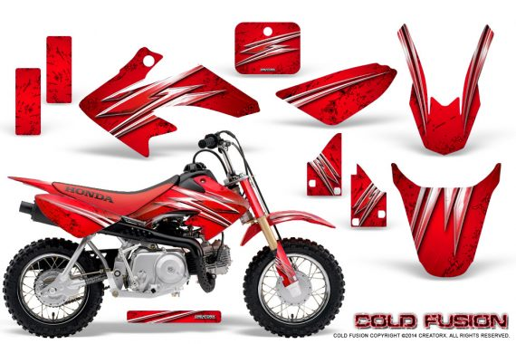 Honda CRF50 CreatorX Graphics Kit Cold Fusion Red 570x380 - Honda CRF50 2004-2015 Graphics