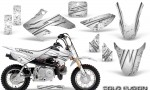 Honda CRF50 CreatorX Graphics Kit Cold Fusion White 150x90 - Honda CRF50 2004-2015 Graphics