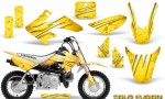 Honda CRF50 CreatorX Graphics Kit Cold Fusion Yellow 150x90 - Honda CRF50 2004-2015 Graphics