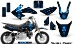 Honda CRF50 CreatorX Graphics Kit Skull Chief Blue 150x90 - Honda CRF50 2004-2015 Graphics