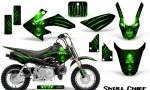 Honda CRF50 CreatorX Graphics Kit Skull Chief Green 150x90 - Honda CRF50 2004-2015 Graphics