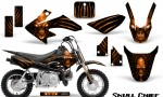 Honda CRF50 CreatorX Graphics Kit Skull Chief Orange 150x90 - Honda CRF50 2004-2015 Graphics