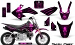 Honda CRF50 CreatorX Graphics Kit Skull Chief Pink 150x90 - Honda CRF50 2004-2015 Graphics