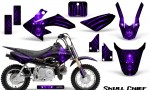Honda CRF50 CreatorX Graphics Kit Skull Chief Purple 150x90 - Honda CRF50 2004-2015 Graphics