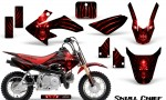 Honda CRF50 CreatorX Graphics Kit Skull Chief Red 150x90 - Honda CRF50 2004-2015 Graphics