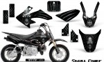 Honda CRF50 CreatorX Graphics Kit Skull Chief Silver 150x90 - Honda CRF50 2004-2015 Graphics